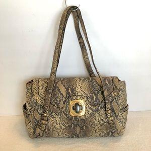 B Makowsky snake leather purse